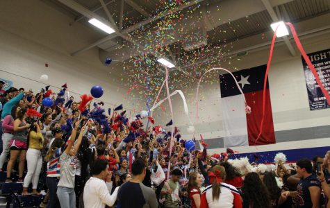 "Don't Blink. The seniors come together to prove their school spirit by throwing confetti and streamers into the air as they chant, ""Seniors! Seniors!"" The graduates of 2018 experience their last, first pep rally at Veterans Memorial High and make it a memory to last a lifetime."
