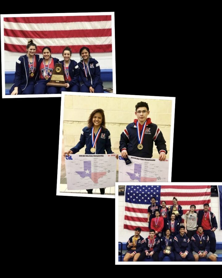 Eagle wrestling team members make history at State